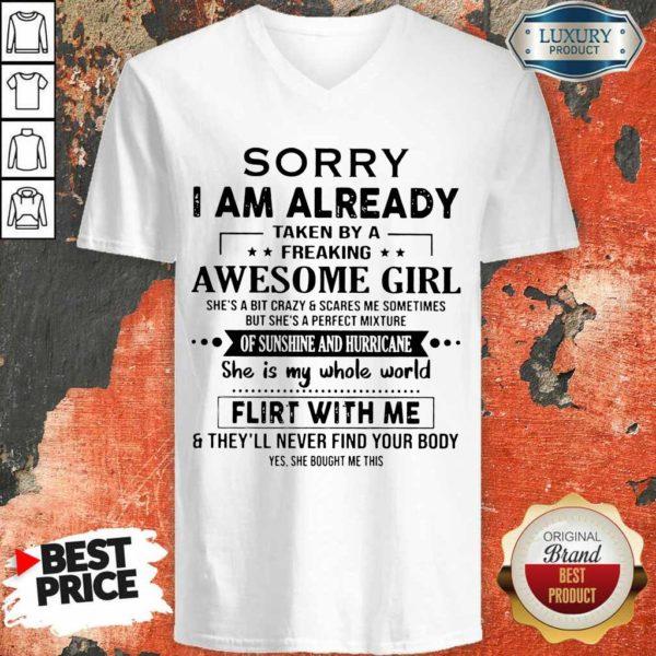 Appalled 1 I Am Already Awesome Girl V-neck