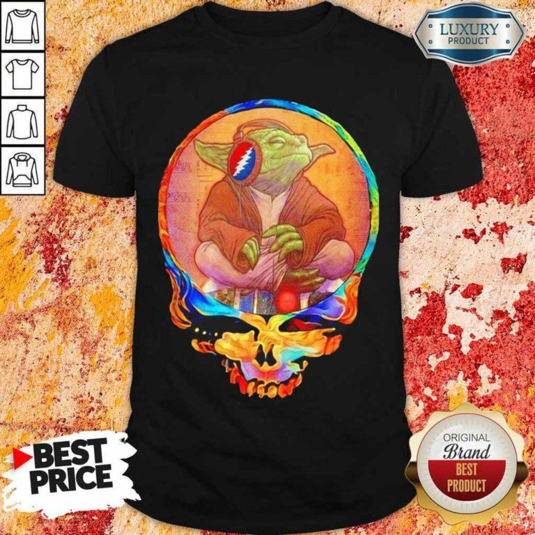 Arrogant Yoda 1 Music Grateful Skull Shirt