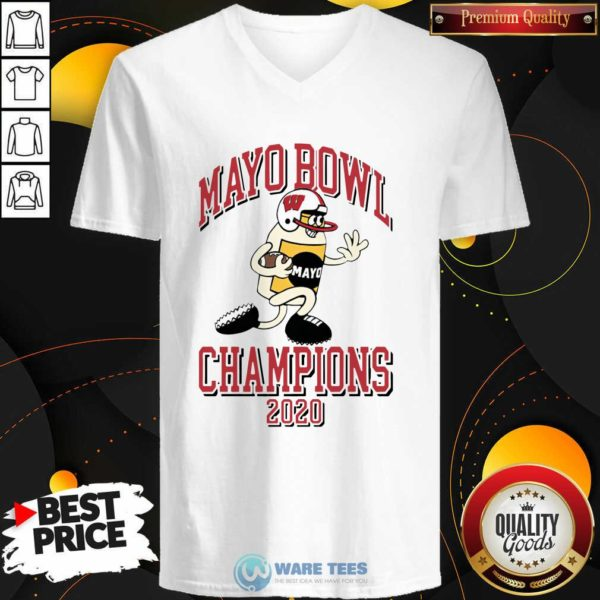 Mayo Bowl Champions 2021 V-neck - Design by Potatotees.com