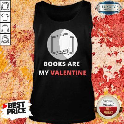 Bewildered 1 Books Are My Valentine Tank Top - Design by Waretees.com