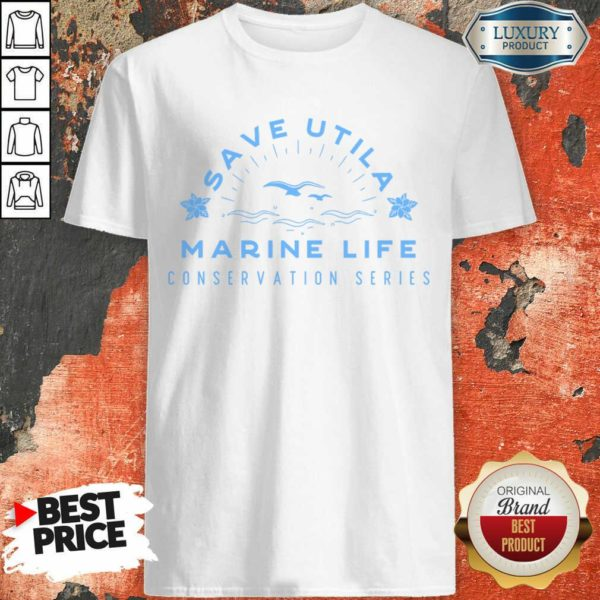 Confident Save Utila Marine Life 4 Conservation Series Shirt - Design by Waretees.com