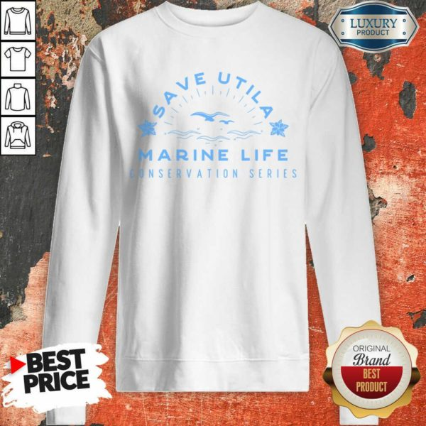 Confident Save Utila Marine Life 4 Conservation Series Sweatshirt - Design by Waretees.com