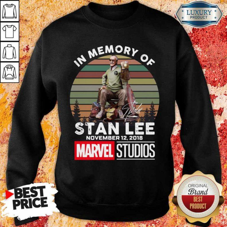 Tense Memory Stan Lee November 12 2018 Marvel Sweatshirt