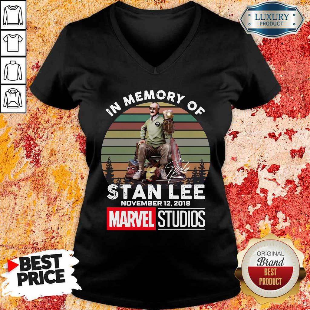 Tense Memory Stan Lee November 12 2018 Marvel V-neck