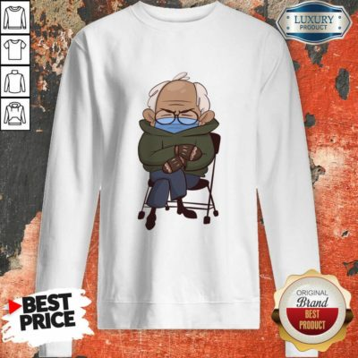 Envious Cozy Bernie Sanders 9 Inauguration Mittens Sweatshirt - Design by Waretees.com