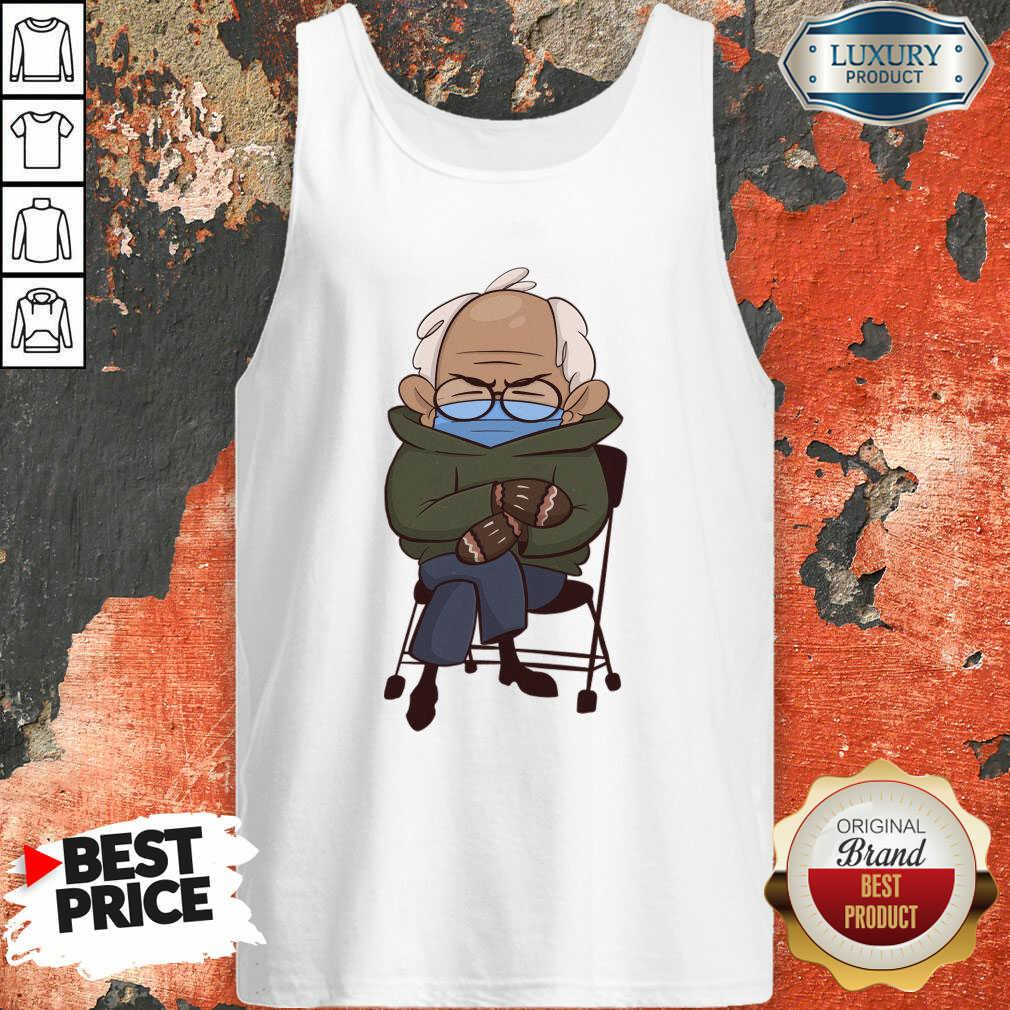 Envious Cozy Bernie Sanders 9 Inauguration Mittens Tank Top - Design by Waretees.com