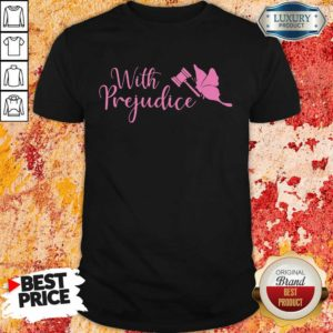 Frightened Lindsay Ellis Merch With 5 Prejudice Shirt - Design by Waretees.com