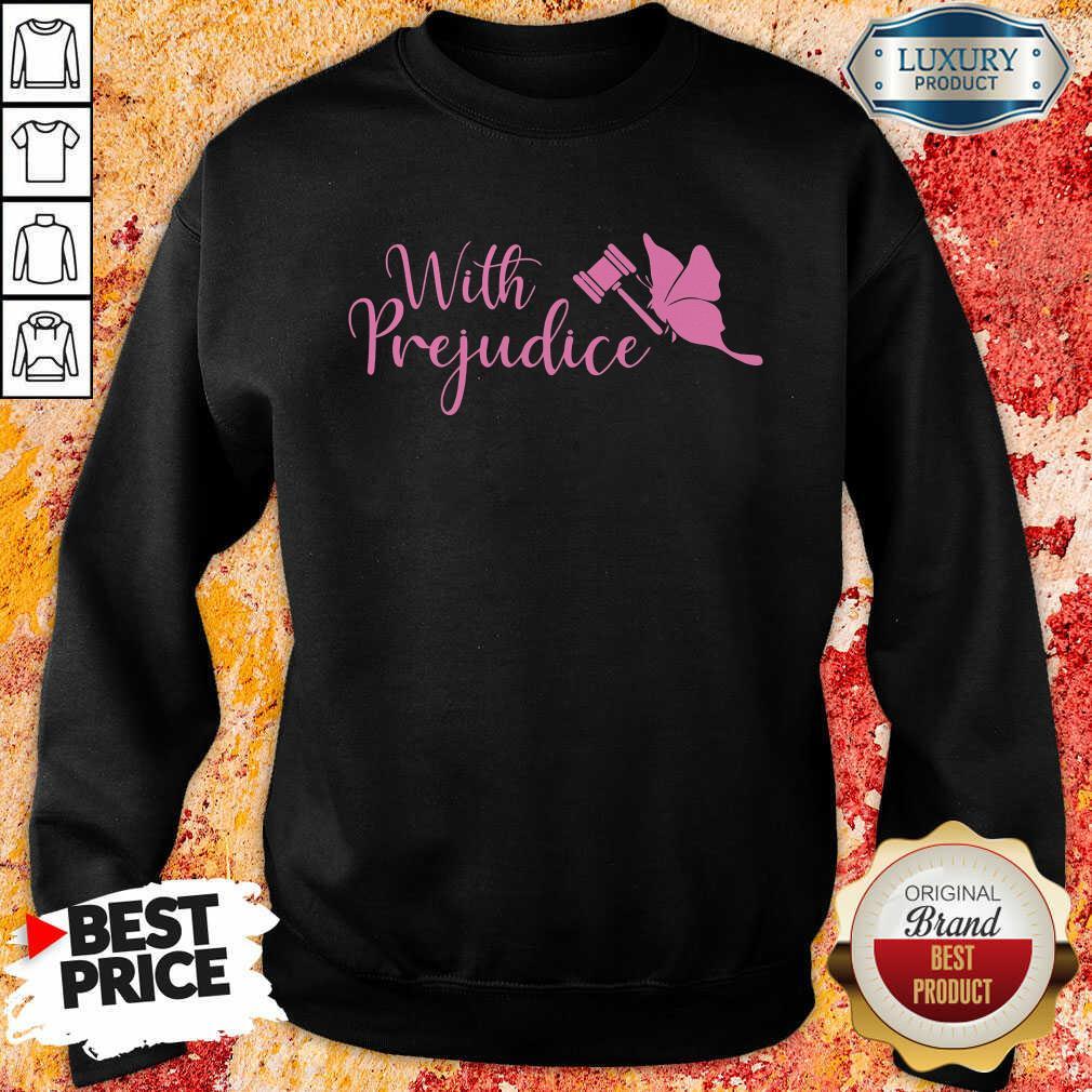 Frightened Lindsay Ellis Merch With 5 Prejudice Sweatshirt - Design by Waretees.com