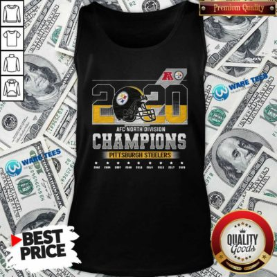 2020 Afc North Division Champions 2020 Pittsburgh Steelers 2002 2004 2007 2008 Tank-Top- Design By Waretees.com