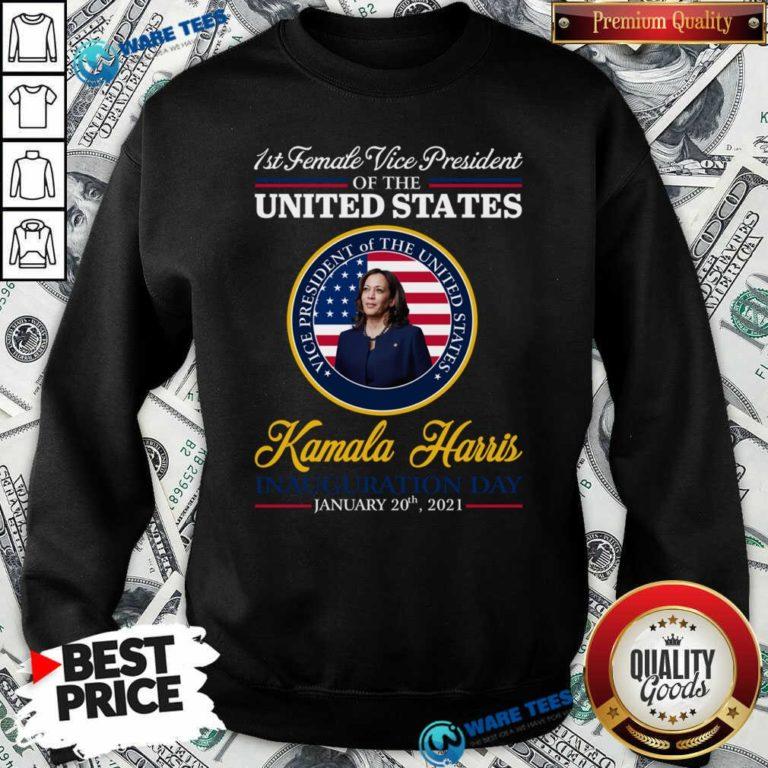 United States President Joe Biden 2021 And VP Harris Inauguration Day Sweatshirt- Design by Waretees.com