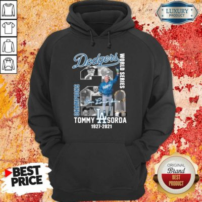 Jaded LA Dodgers World Series Champions 2 Tommy Lasorda Hoodie - Design by Waretees.com