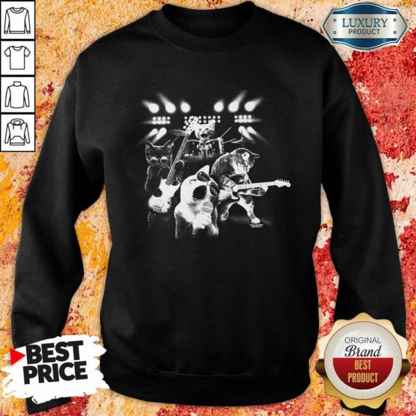 Malicious The 4 Cat Band Singing Sweatshirt - Design by Waretees.com