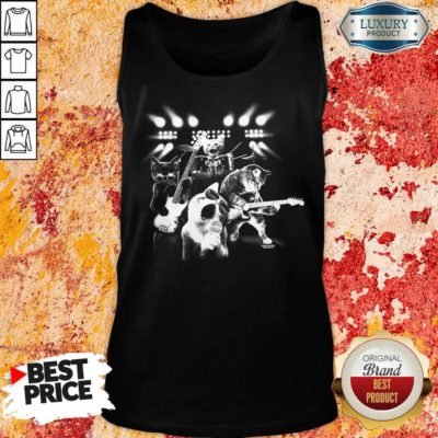 Malicious The 4 Cat Band Singing Tank Top - Design by Waretees.com