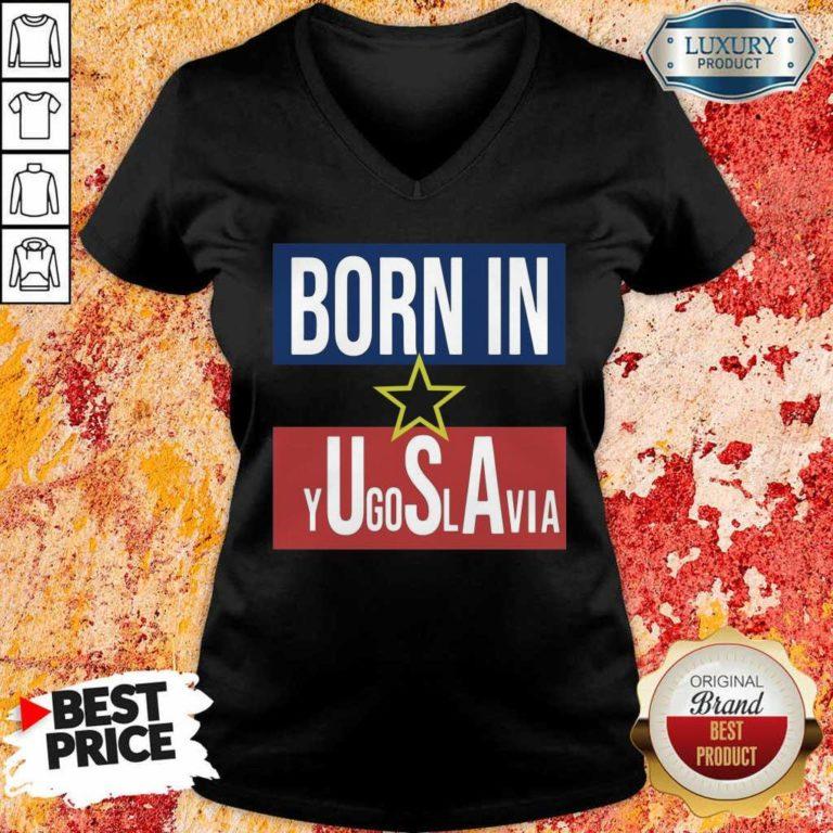 Negative 1 Born In Yugoslavia V-neck