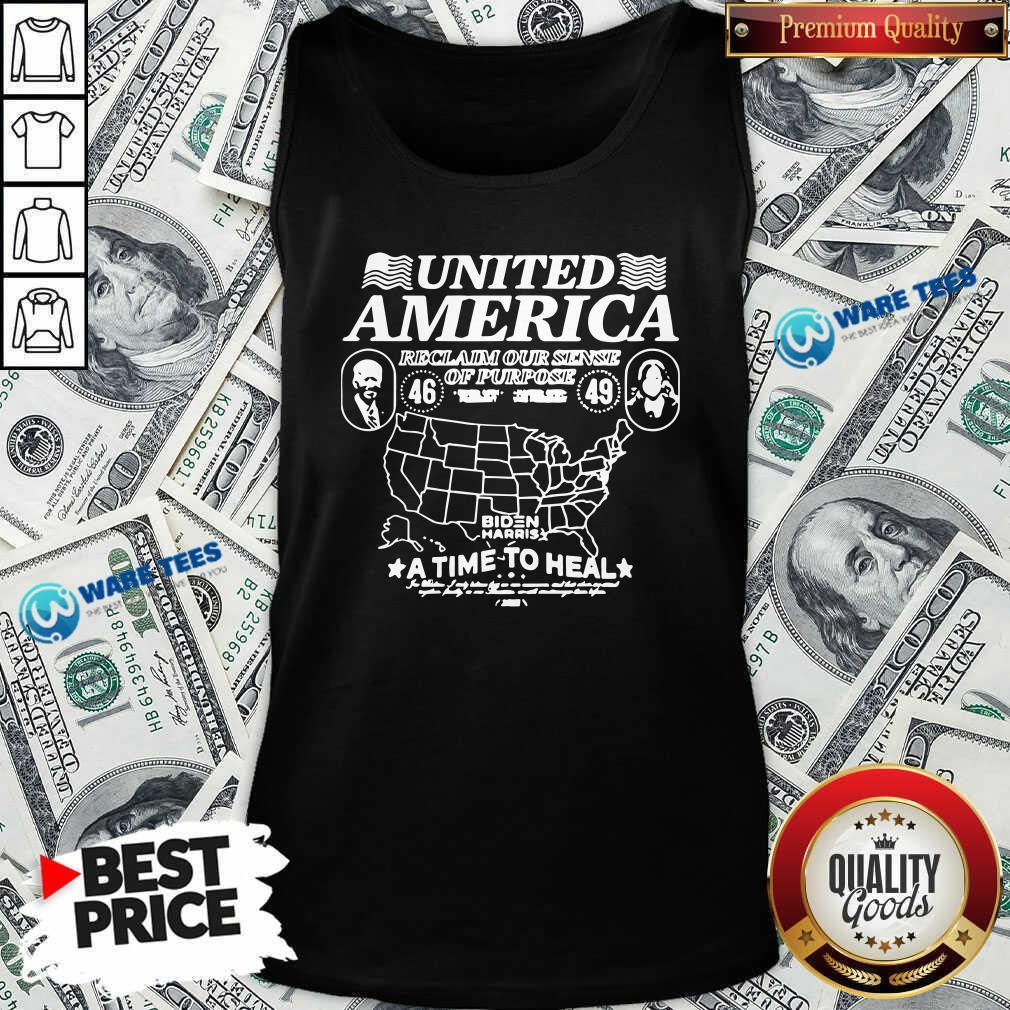 Original Biden Harris United America Reclaim Time To Heal Tank Top