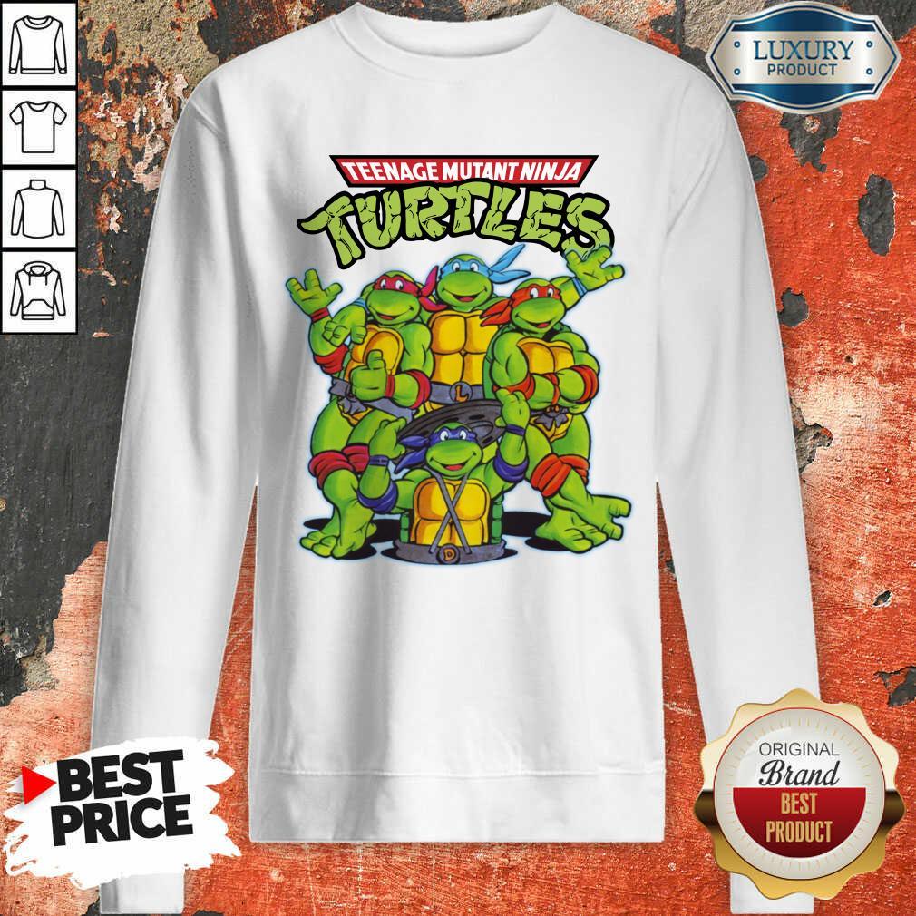 Overjoyed Teenage Mutant 11 Ninja Turtles Sweatshirt - Design by Waretees.com