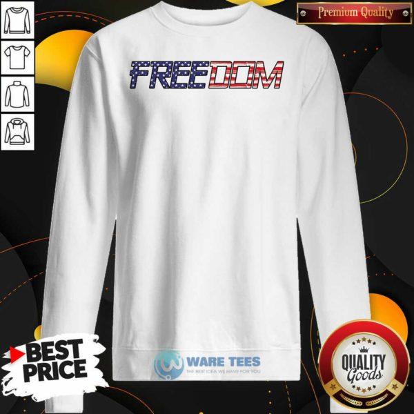 American Flag Patriotic Freedom Sweatshirt- Design By Waretees.com