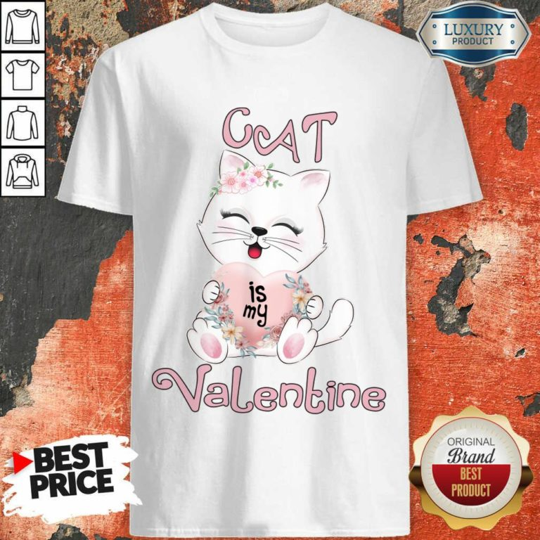 Positive Cat Is My Valentine 7 Shirt - Design by Waretees.com