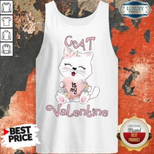 Positive Cat Is My Valentine 7 Tank Top - Design by Waretees.com
