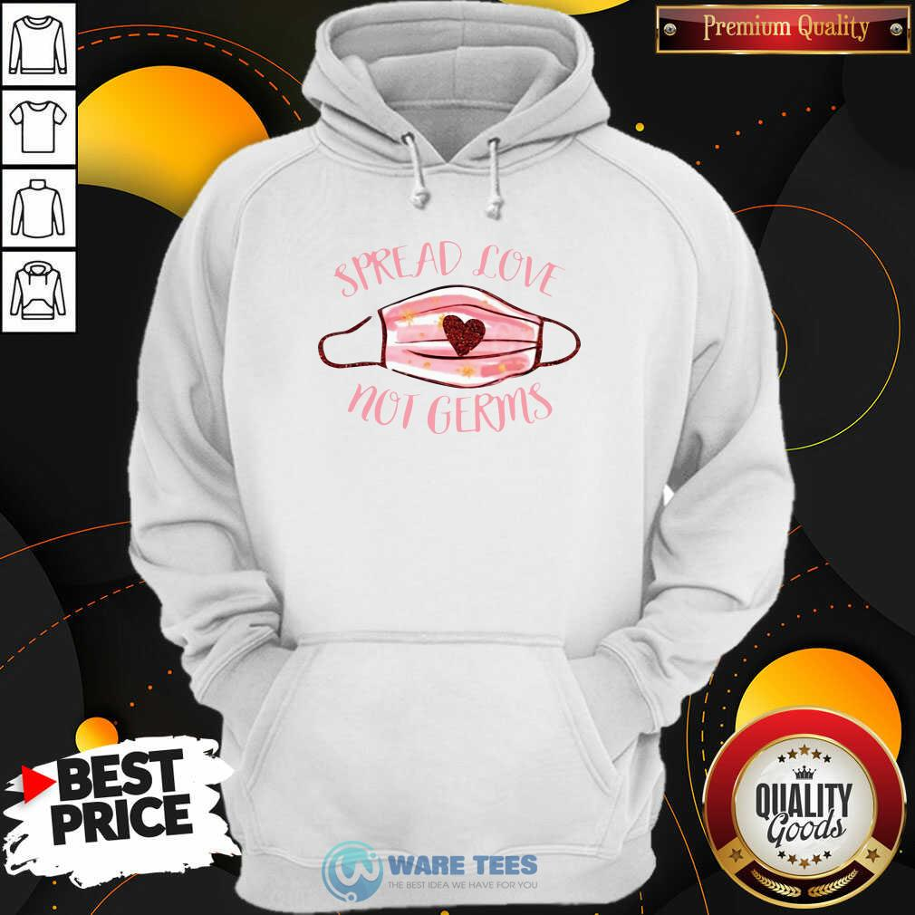 Spread Love Not Germs Face Mask Hoodie- Design by Waretees.com