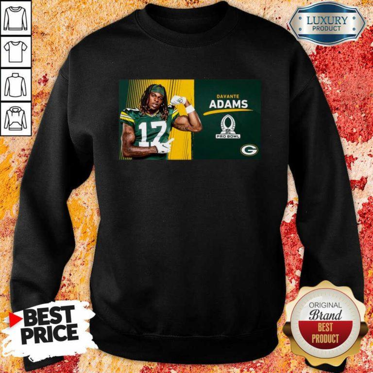 Sad Green Bay Packers Davante Adams Is Pro Bowl 2021 Sweatshirt - Design by Waretees.com