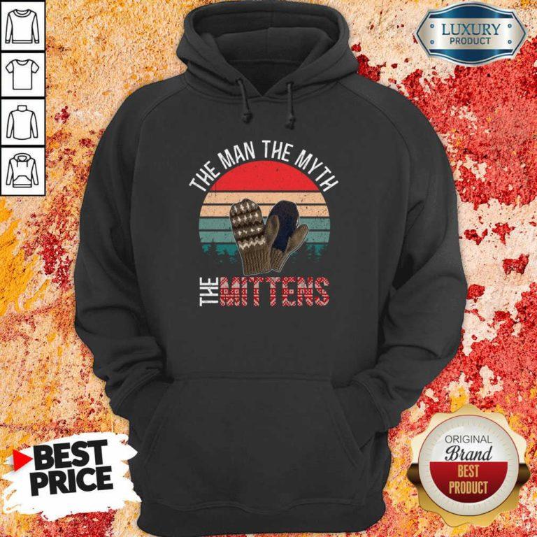 Scared Bernie Sanders Mittens 8 Man Myth Vintage Retro Hoodie - Design by Waretees.com