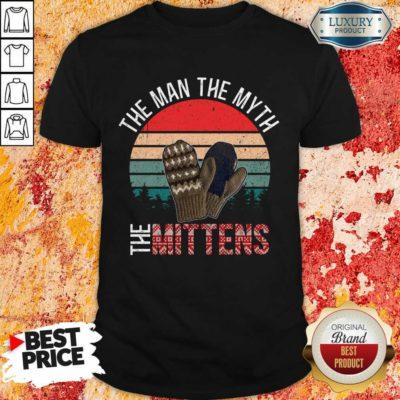 Scared Bernie Sanders Mittens 8 Man Myth Vintage Retro Shirt - Design by Waretees.com