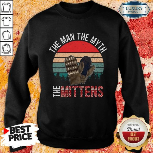 Scared Bernie Sanders Mittens 8 Man Myth Vintage Retro Sweatshirt - Design by Waretees.com