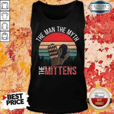 Scared Bernie Sanders Mittens 8 Man Myth Vintage Retro Tank Top - Design by Waretees.com