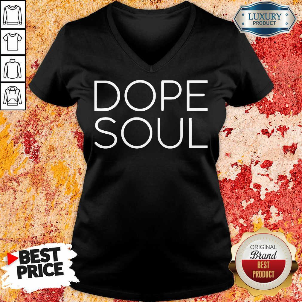 Surprised Mad Hustle Dope Soul 12 Black V-neck - Design by Waretees.com