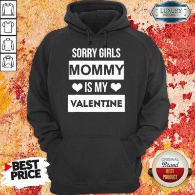 Upset 5 Valentines Girls Mommy My Valentine Hoodie