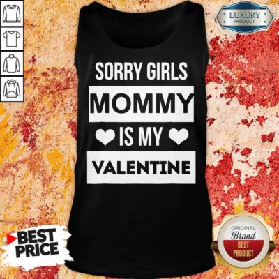 Upset 5 Valentines Girls Mommy My Valentine Tank Top