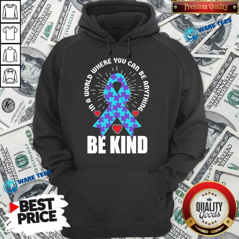 Be Kind Suicide 4 Awareness Hoodie - Design by Waretees.com