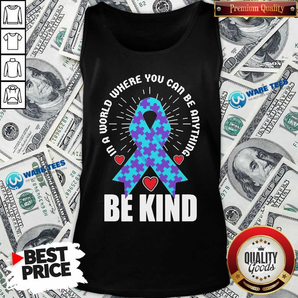 Be Kind Suicide 4 Awareness Tank Top - Design by Waretees.com