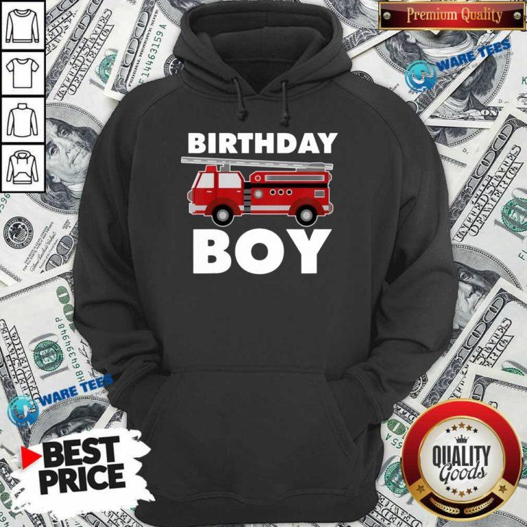 Birthday Boy 6 Fire Truck Hoodie - Design by Waretees.com