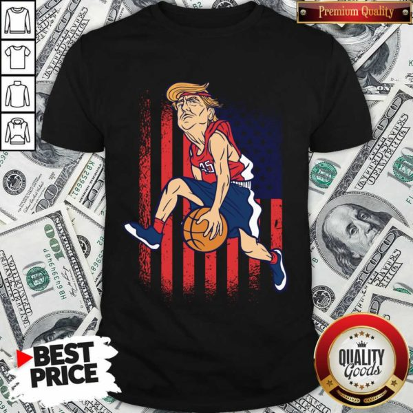 Donald Trump Playing Basketball 7 Shirt - Design by Waretees.com