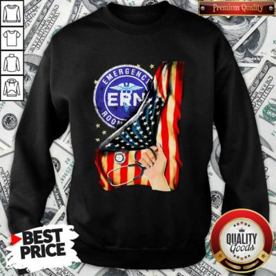 Funny Emergency Room And American Flag Sweatshirt