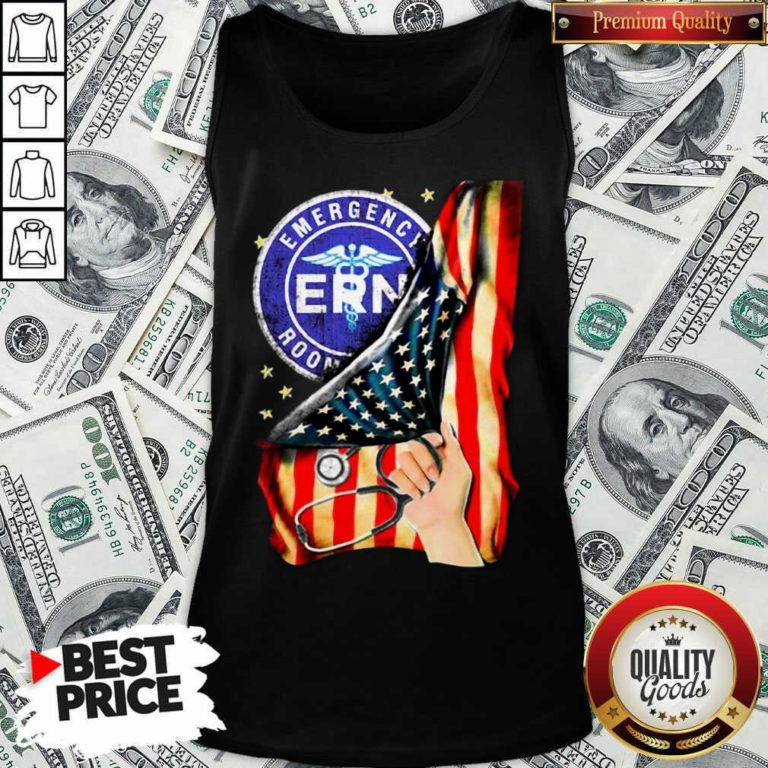 Funny Emergency Room And American Flag Tank Top