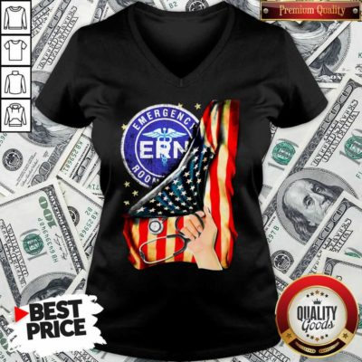 Funny Emergency Room And American Flag V-neck