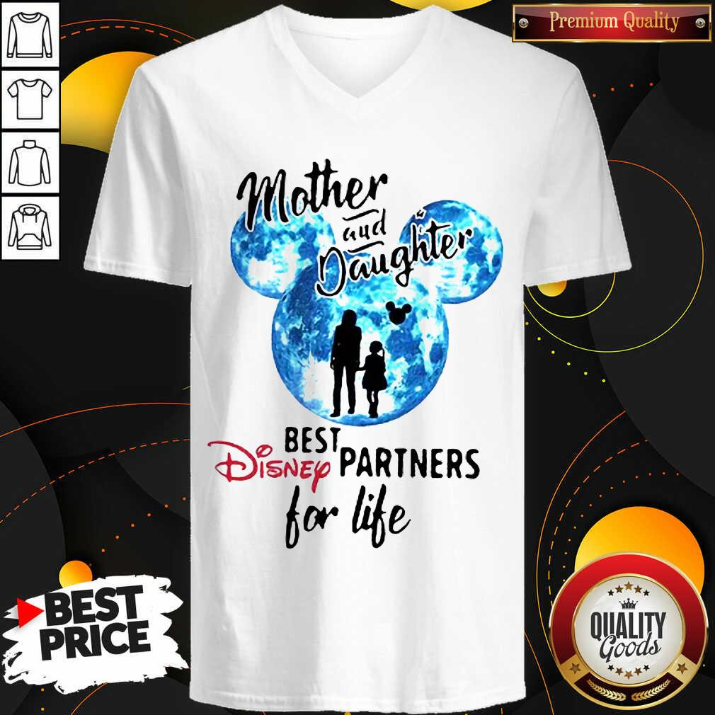 Funny Mickey Mother And Daughter Best Disney Partners For Life V-neck