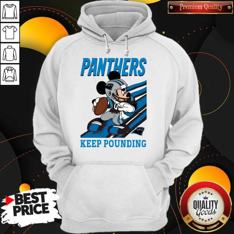 Funny Mickey Mouse Carolina Panthers Keep Pounding Hoodie