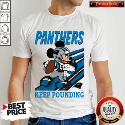 Funny Mickey Mouse Carolina Panthers Keep Pounding Shirt