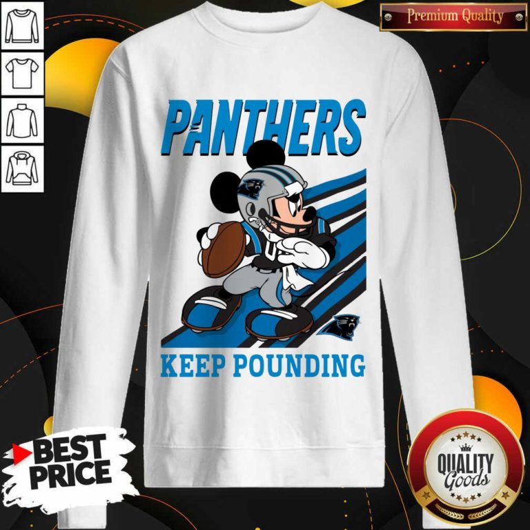 Funny Mickey Mouse Carolina Panthers Keep Pounding Sweatshirt