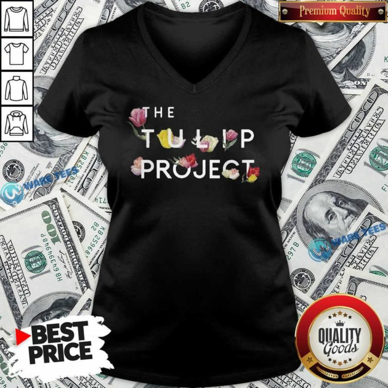 Happy The Flower Tulip Project V-neck