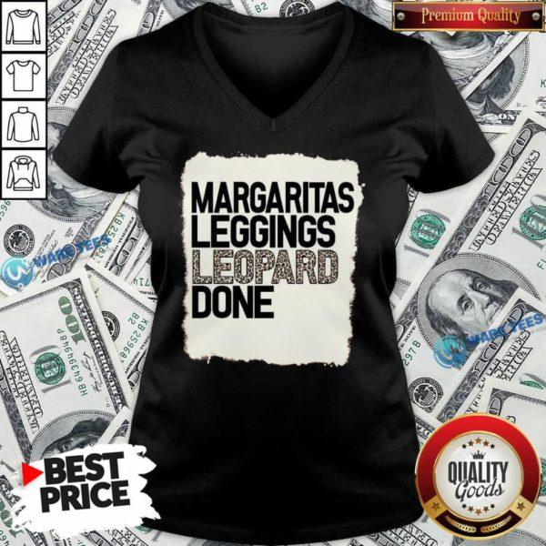 Hot Margaritas Leggings Leopard Done V-neck