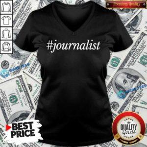 Journalist 2 V-neck - Design by Waretees.com