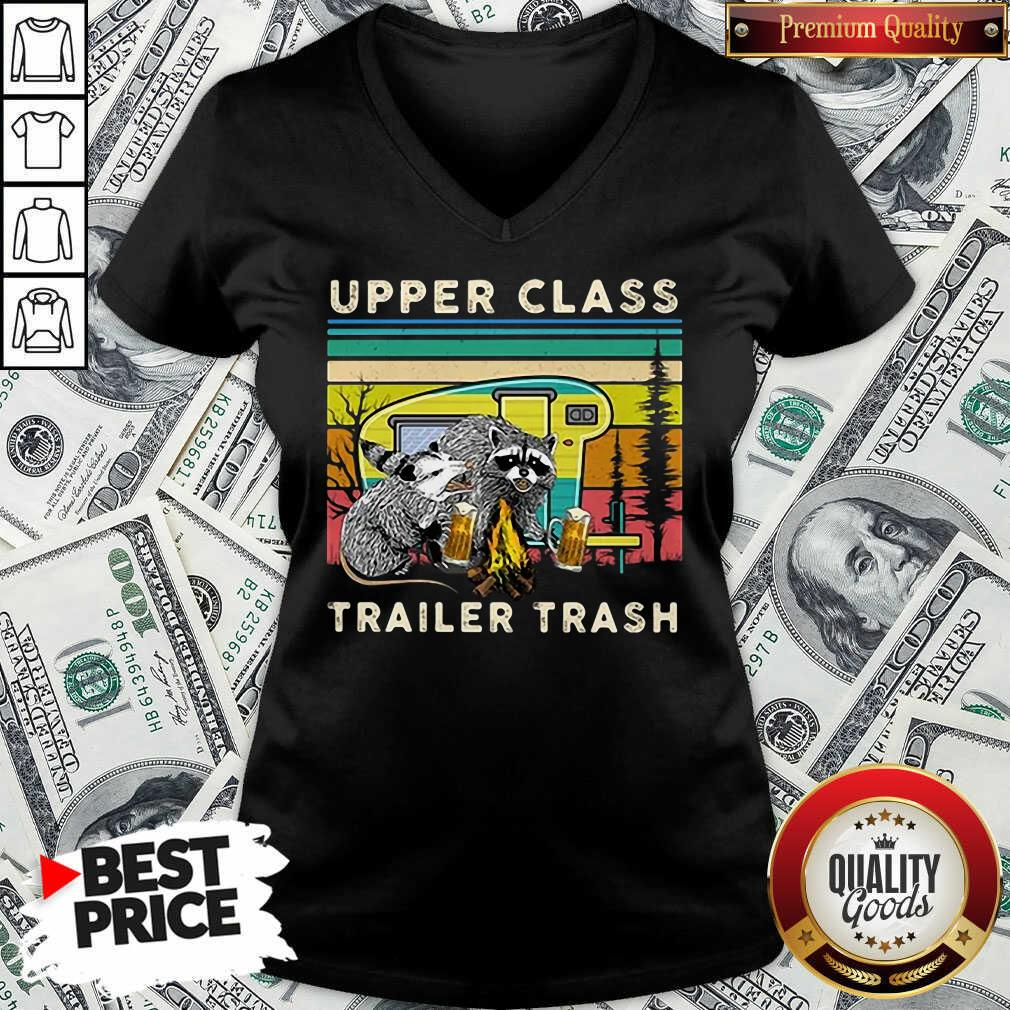 Nice Raccoons And Opossums Upper Class Trailer Trash V-neck