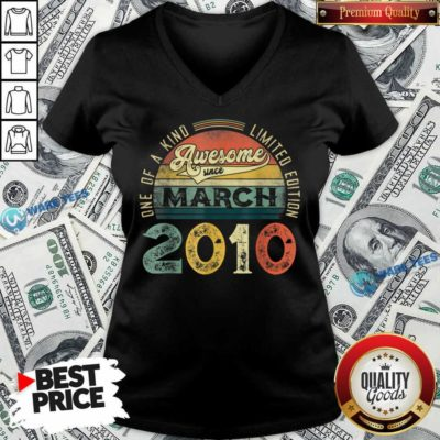 One Of A Kind Limited Edition March 2010 V-neck - Design by Waretees.com