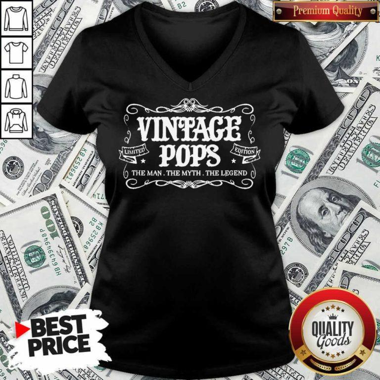 Vintage Pops 1 Limited Edition V-neck - Design by Waretees.com