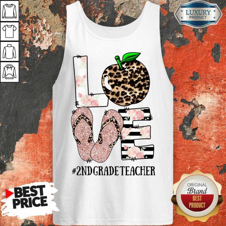 Apple Leopard Love 2nd Grade Teacher Tank Top